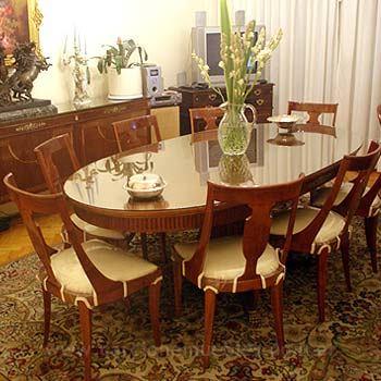 Juego completo estilo ingl s for Muebles de comedor diario