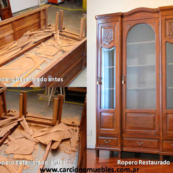 Muebles restaurados antes y despues elegant estos son for Reciclar ropero antiguo